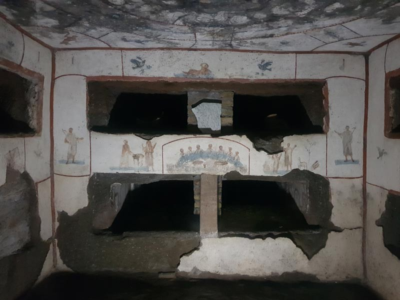 Tour delle Catacombe di Roma con Guida Privata (con autista privato) a disposizione 3 ore