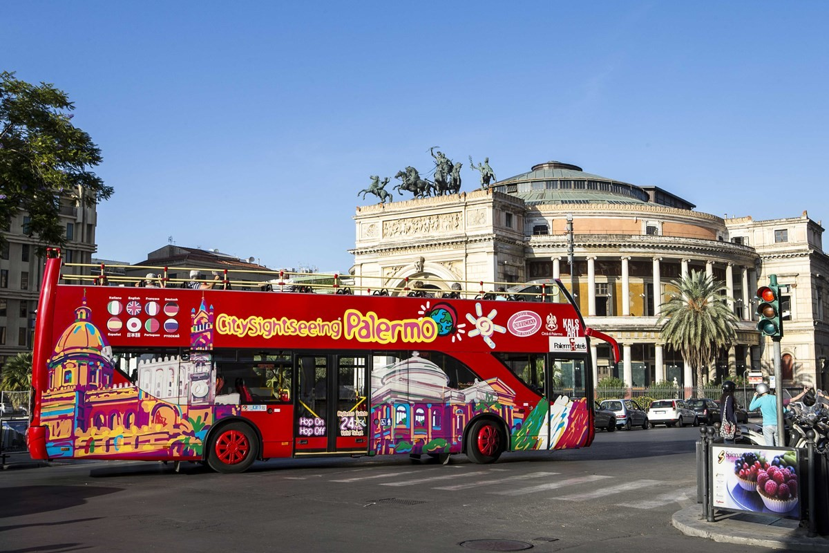 Palermo City Sightseeing Tour - Ticket 24h