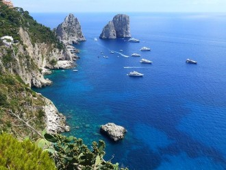Capri Island and the Blue Grotto from Naples