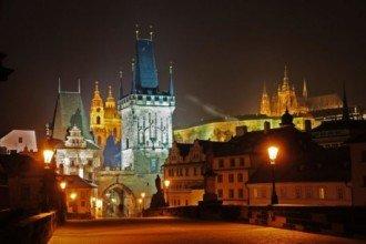 Prague Evening Walk and Bridge Tower Entrance Ticket