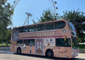 London Sightseeing Bus Tour with Afternoon Tea - upper deck