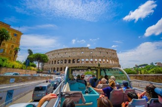Rome By Train with Hop On Hop Off SightSeeing Rome Tour from Florence