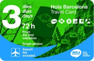 Hola Barcelona Travel Card - Transport Pass 72 hours