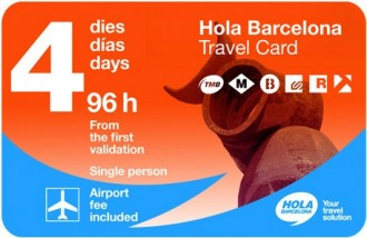 Hola Barcelona Travel Card - Transport Pass 96 Hours