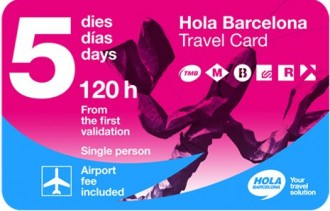 Hola Barcelona Travel Card - Transport Pass 120 Hours