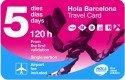 Tarjeta de viaje Hola Barcelona - Pase de transporte 120 Horas